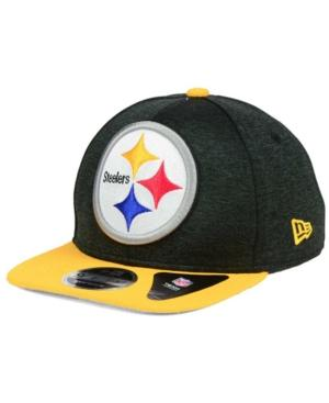 New Era Pittsburgh Steelers Heather Huge 9Fifty Snapback Cap In Black/Gold