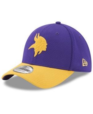 New Era Minnesota Vikings Logo Surge 39Thirty Cap In Purple/Yellow