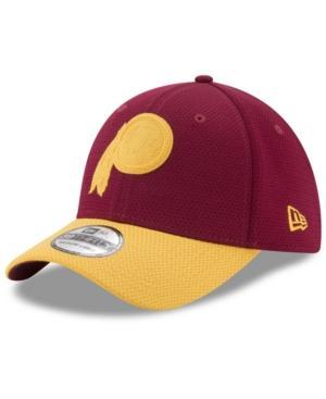 New Era Washington Redskins Logo Surge 39Thirty Cap In Maroon/Yellow