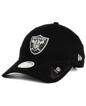 New Era Oakland Raiders Team Glisten 9Twenty Cap In Black