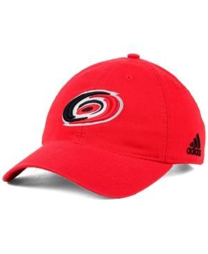 Adidas Originals Adidas Carolina Hurricanes Core Slouch Cap In Red