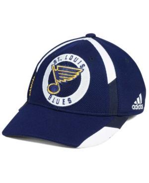 Adidas Originals Adidas St. Louis Blues Practice Jersey Hook Cap In Navy/White