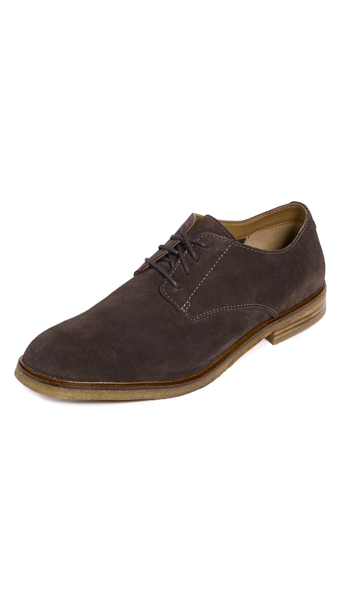 Clarks Clarkdale Moon Suede Oxfords In Dark Brown