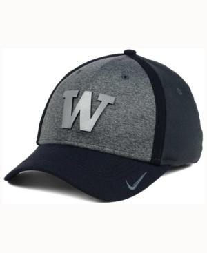 Nike Washington Huskies Heather Stretch Fit Cap In Anthracite/Reflective Silver