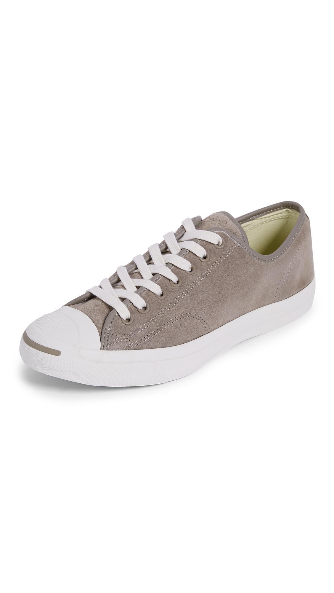 Converse Jack Purcell Jack Suede Sneakers In Malt/Egret