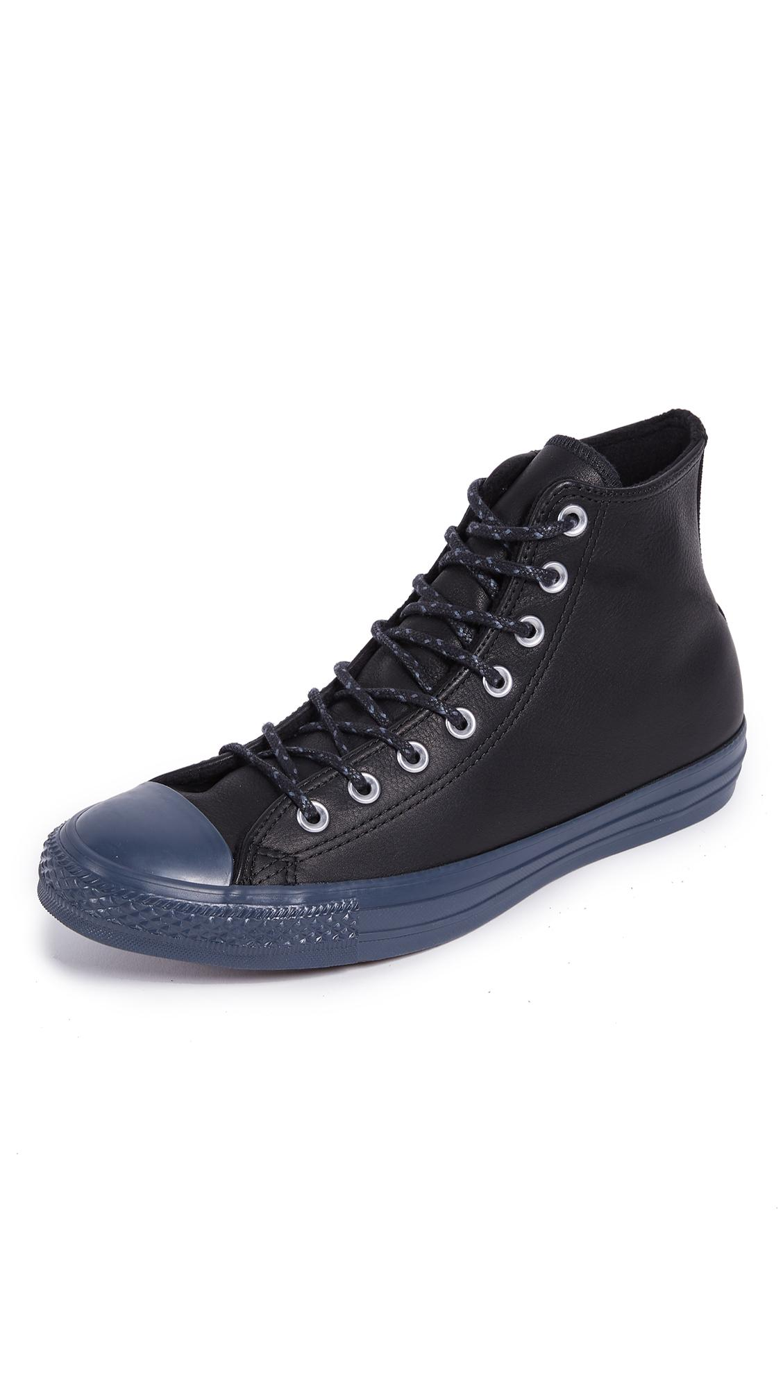Converse Chuck Taylor Hi With Thermal Lining In Black/Black