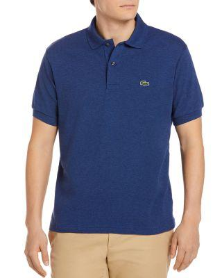 Lacoste Classic Cotton Pique Regular Fit Polo Shirt In Anchor Blue