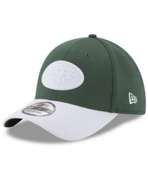 New Era New York Jets Logo Surge 39Thirty Cap In Green/White