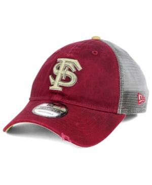 New Era Florida State Seminoles Team Rustic 9Twenty Cap In Maroon/Gray/Light Gold