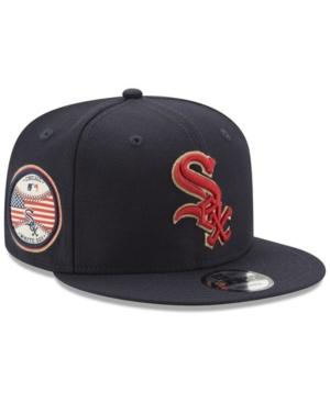 New Era Chicago White Sox Full Americana Patch 9Fifty Snapback Cap In Navy