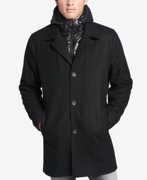 Calvin Klein Men's Walker Coat With Packable Inset In Black