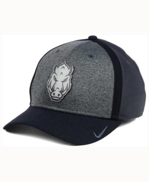 Nike Arkansas Razorbacks Heather Stretch Fit Cap In Anthracite/Reflective Silver
