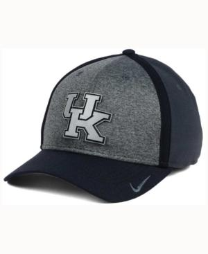 Nike Kentucky Wildcats Heather Stretch Fit Cap In Anthracite/Reflective Silver