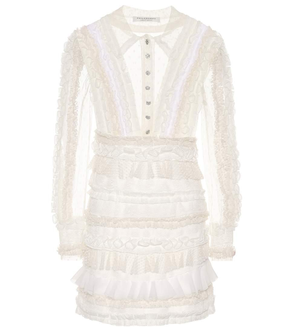 Philosophy Di Lorenzo Serafini Lace Minidress In White