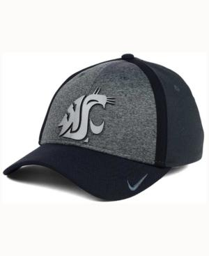 Nike Washington State Cougars Heather Stretch Fit Cap In Anthracite/Reflective Silver