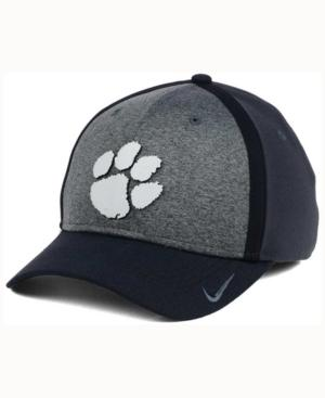 Nike Clemson Tigers Heather Stretch Fit Cap In Anthracite/Reflective Silver