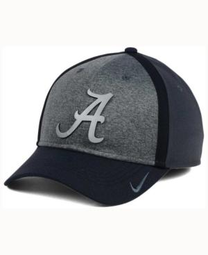 Nike Alabama Crimson Tide Heather Stretch Fit Cap In Anthracite/Reflective Silver