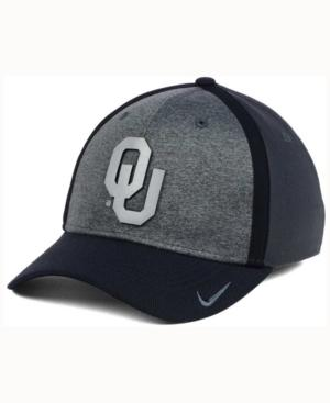 Nike Oklahoma Sooners Heather Stretch Fit Cap In Anthracite/Reflective Silver