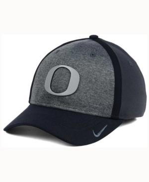 Nike Oregon Ducks Heather Stretch Fit Cap In Anthracite/Reflective Silver
