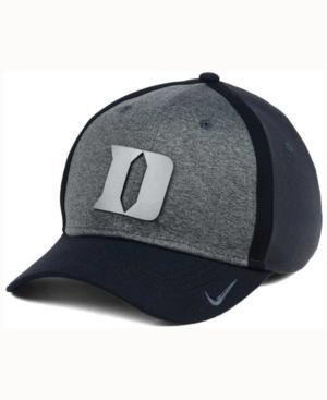 Nike Duke Blue Devils Heather Stretch Fit Cap In Anthracite/Reflective Silver