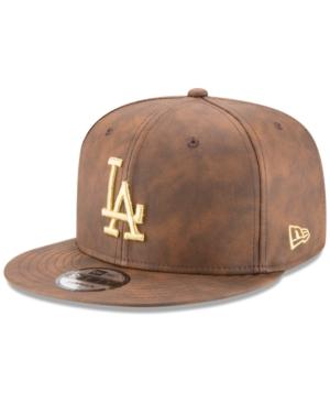 New Era Los Angeles Dodgers Butter So Soft 9Fifty Snapback Cap In Brown