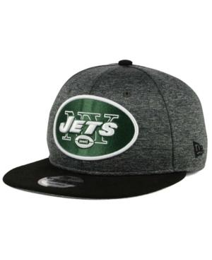 New Era New York Jets Heather Huge 9Fifty Snapback Cap In Heather Charcoal/Black