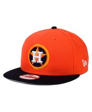 New Era Houston Astros 2 Tone Link 9Fifty Snapback Cap In Orange/Navy