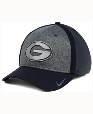 Nike Georgia Bulldogs Heather Stretch Fit Cap In Anthracite/Reflective Silver