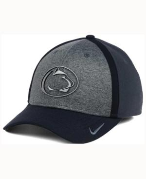 Nike Penn State Nittany Lions Heather Stretch Fit Cap In Anthracite/Reflective Silver