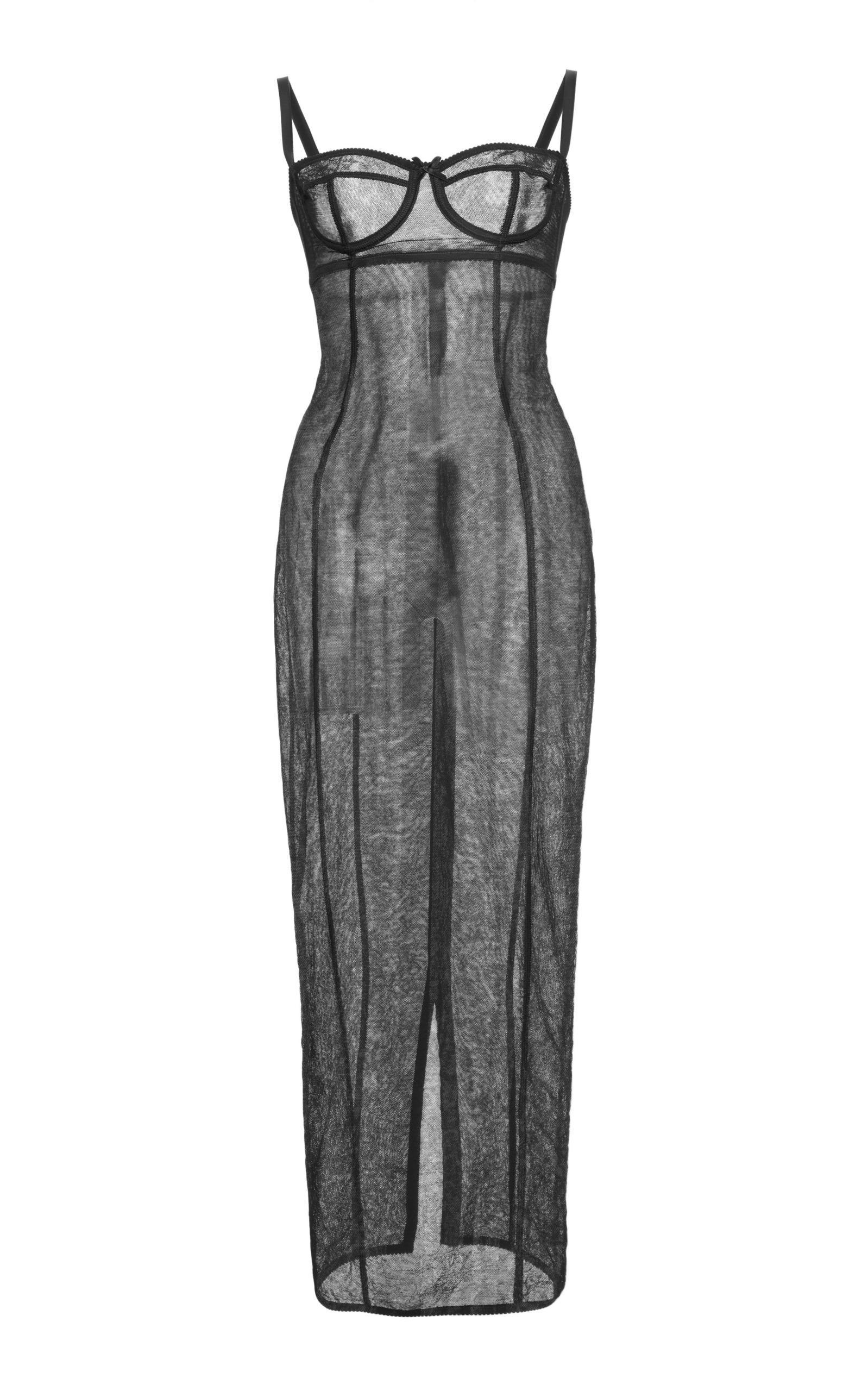 Dolce & Gabbana Ruched Tank Dress In Black
