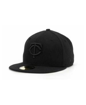 New Era Minnesota Twins Black On Black Fashion 59Fifty Cap