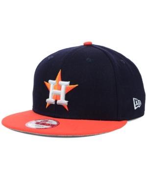 New Era Houston Astros Mlb 2 Tone Link 9Fifty Snapback Cap In Navy