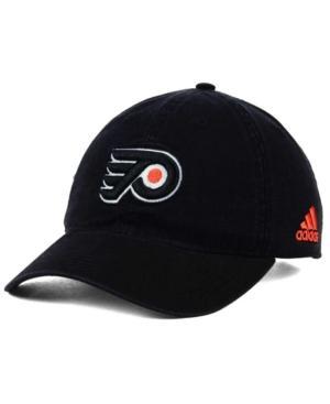 Adidas Originals Adidas Philadelphia Flyers Core Slouch Cap In Black