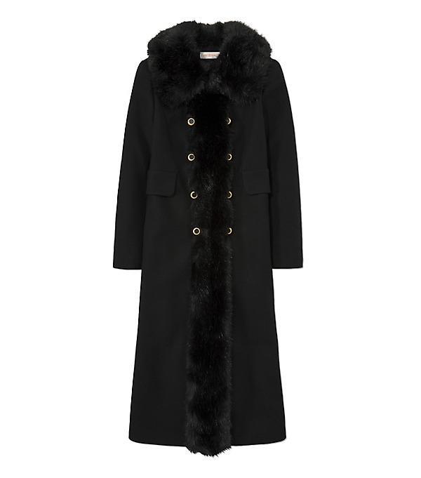 Tory Burch Celeste Wool-Blend Coat In Llack