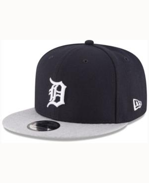 New Era Detroit Tigers Heather Vize 9Fifty Snapback Cap In Navy/Gray