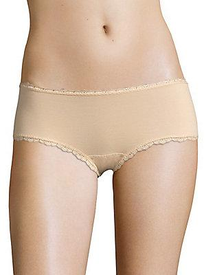 Cosabella Scalloped Lace Hipsters In Blush
