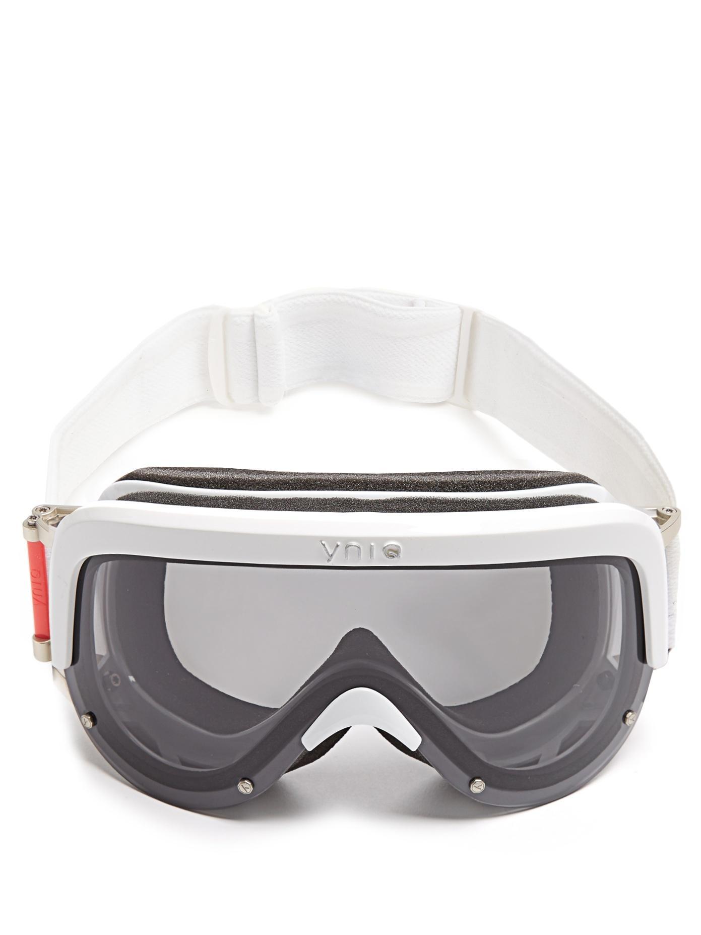 Yniq Model One Extended-Vision Ski Goggles In White Multi
