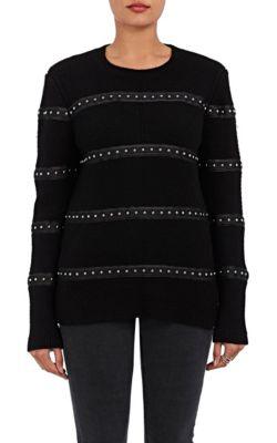 Altuzarra Woodbridge Embellished Wool-Blend Sweater In Black