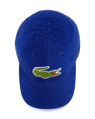 Lacoste Big Croc Hat In Ocean Blue