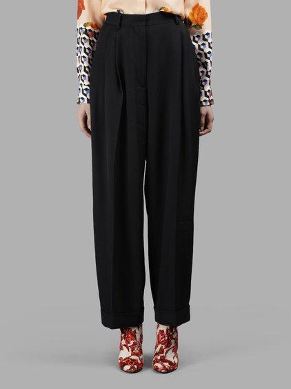 Dries Van Noten Women's Black Large Trousers