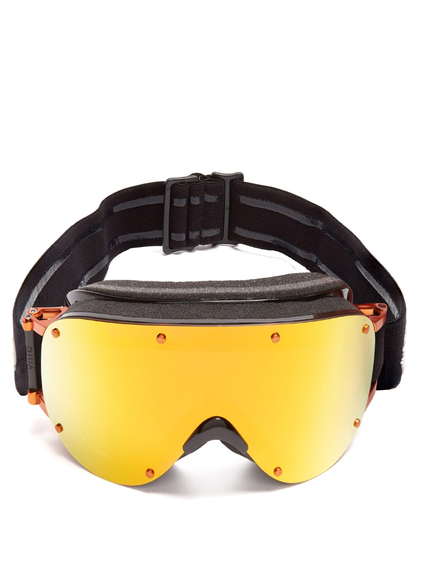 Yniq Model Four Extended-Vision Ski Goggles In Black Multi