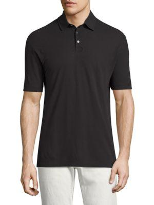 Vilebrequin Swiss Jersey Chrysanthe Polo In Black