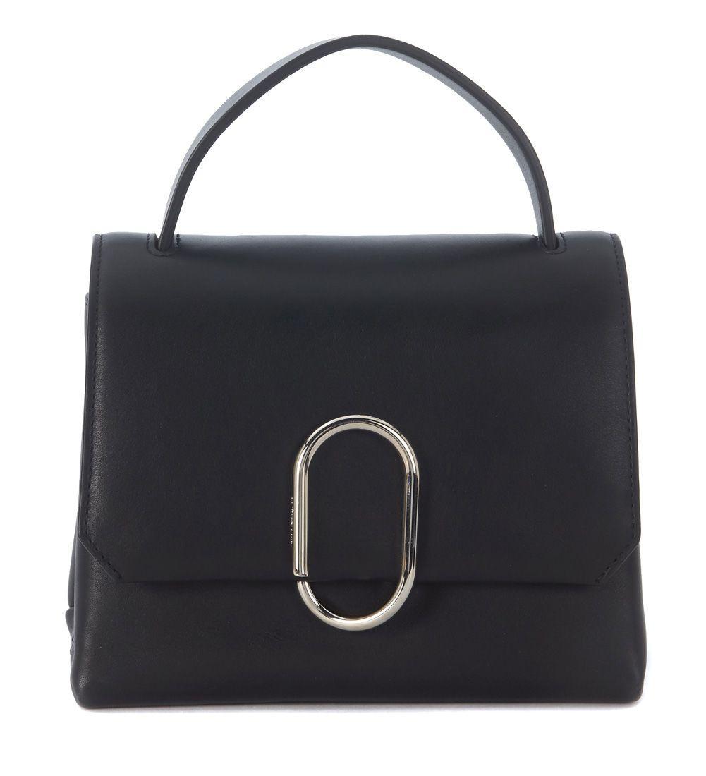3.1 Phillip Lim Alix Top Handle Black Leather Handbag In Nero