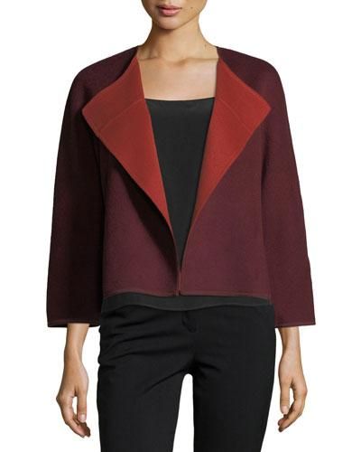 Lafayette 148 Odene Reversible Wool Topper Jacket In Red Pattern