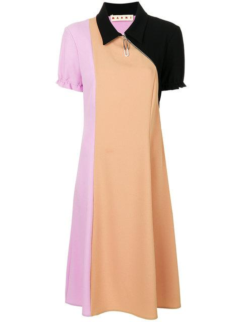 Marni Colourblocked Dress With Collar