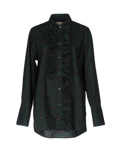 Marni Patterned Shirts & Blouses In Emerald Green