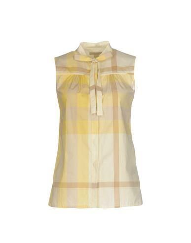 Burberry Shirts In Light Yellow