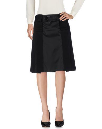 Prada Knee Length Skirt In Black