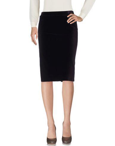 Saint Laurent Knee Length Skirts In Cocoa