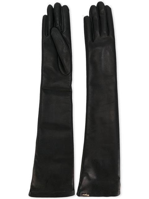 Salvatore Ferragamo Long Leather Gloves